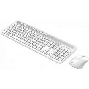 Kit Teclado e Mouse Wireless CS500 Branco - HP