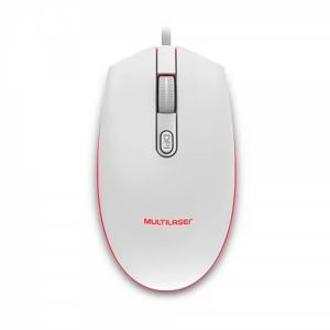 Mouse Gamer 2400DPI LED 7 Cores Branco - Multilaser